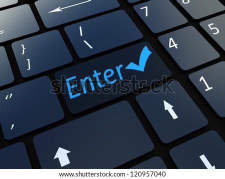 Keyboard enter key - stock photo