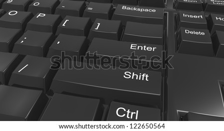 Keyboard focused on shift and enter