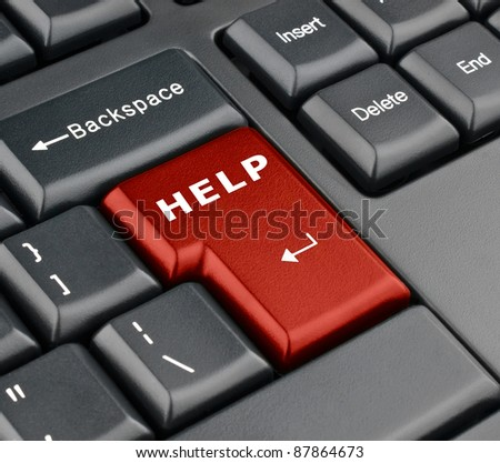 Keyboard help button - stock photo