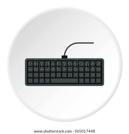 Keyboard icon. Flat illustration of keyboard  icon for web