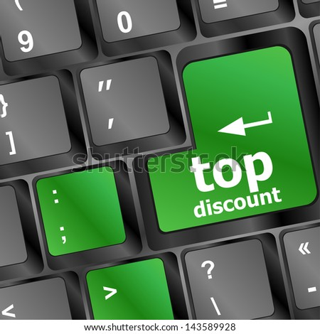 keyboard key top discount, sale discount concept, raster