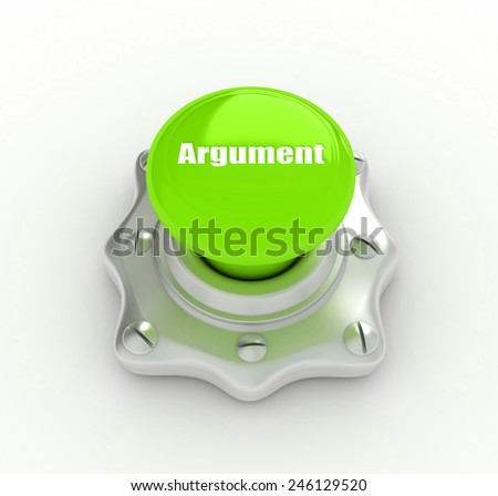 Keyboard key with white Enter button, argument word on it - stock photo