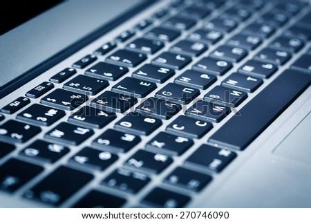 Keyboard, laptop, key. - stock photo