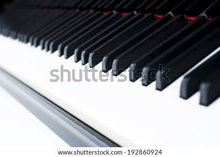 Keyboard of a concert piano