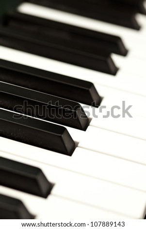 Keyboard of a piano
