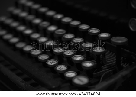 Keyboard of old typewriter