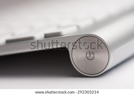 Keyboard Power Button - stock photo
