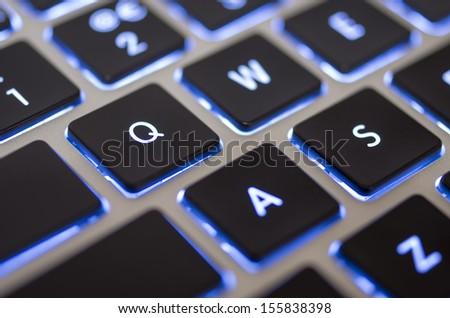Keyboard - Q - stock photo