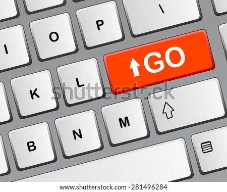 Keyboard. Raster version - stock photo
