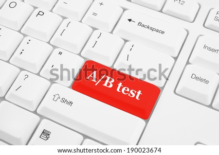 Keyboard with A B test button