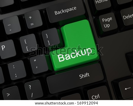 Keyboard with a word backup