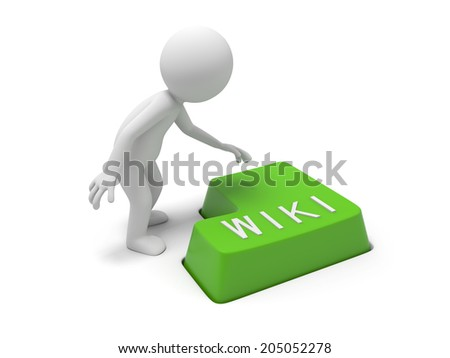 Keyboard with a word wiki - stock photo
