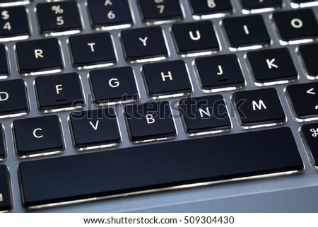 Keyboard with back light