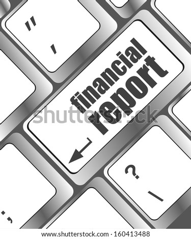 keyboard with financial report button, raster