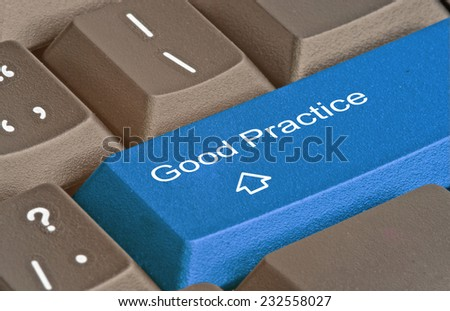 Keyboard with hot key for good practice