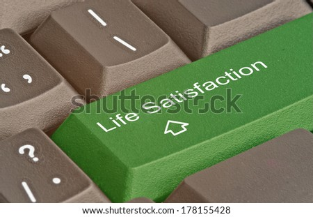 Keyboard with hot key for life satisfaction