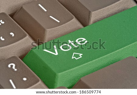 Keyboard with hot key for vote