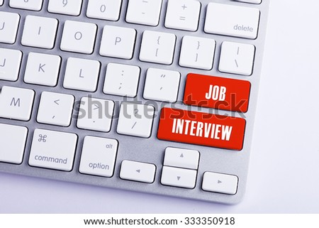 Keyboard with Job Interview Button