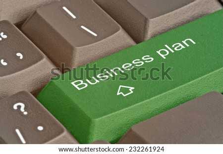 Keyboard with key for business plan