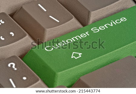 Keyboard with key for  customer services