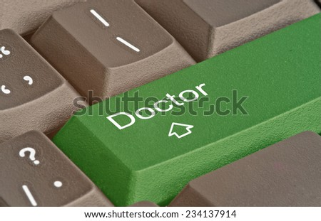 Keyboard with key for doctor