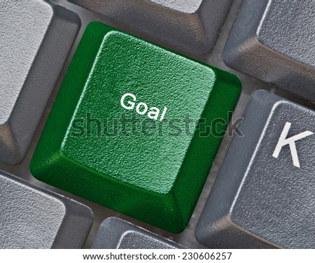 Keyboard with key for goal