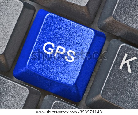 Keyboard with key for GPS