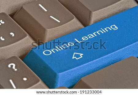 Keyboard with key for online learning