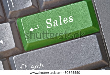 Keyboard with key for sales