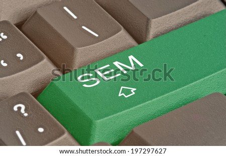 Keyboard with key for SEM