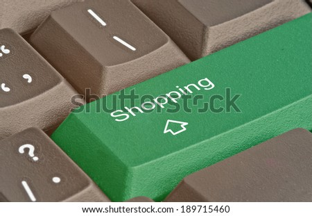 Keyboard with key for shopping
