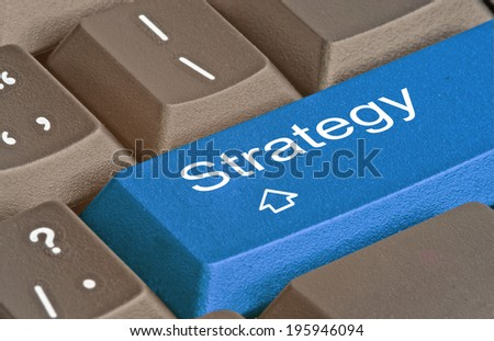 Keyboard with key for strategy