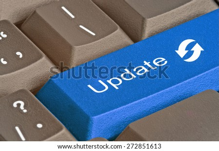 Keyboard with key for update