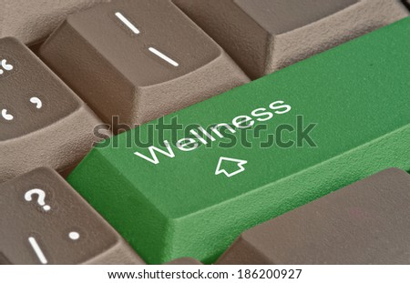Keyboard with key for wellness