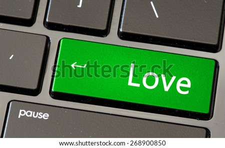 Keyboard with love button