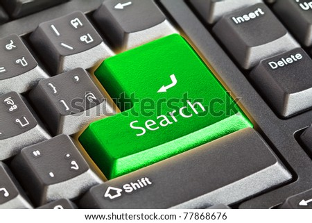 "Keyboard with ""search"" button - stock photo"