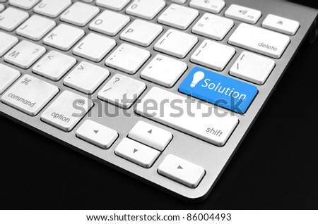 Keyboard with security button - computer security concept