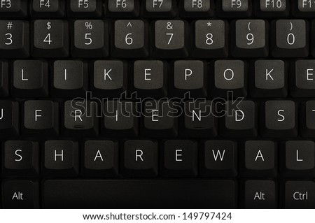 Keyboard with Social Networking Keys