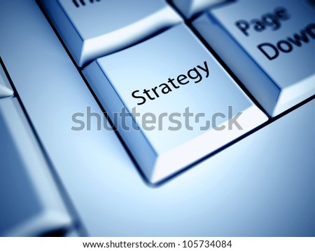 Keyboard with Strategy button, business concept - stock photo