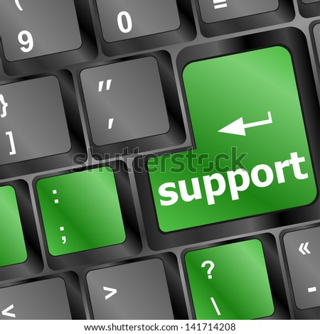 keyboard with support button, raster - stock photo