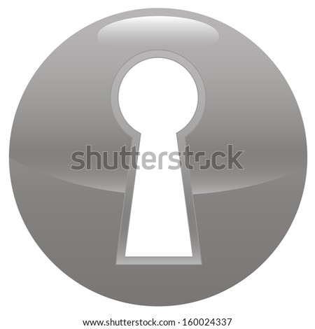 Keyhole gray icon on a white background