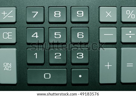 Keypad of a calculator close-up