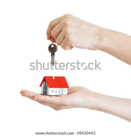 keys for new house isolated on white. concept