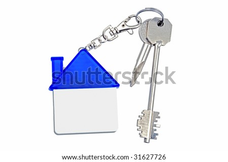 Keys from an apartment and with charm - stock photo
