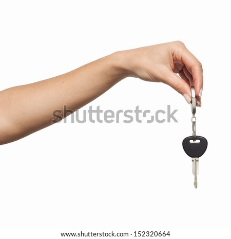 Keys from the car - stock photo