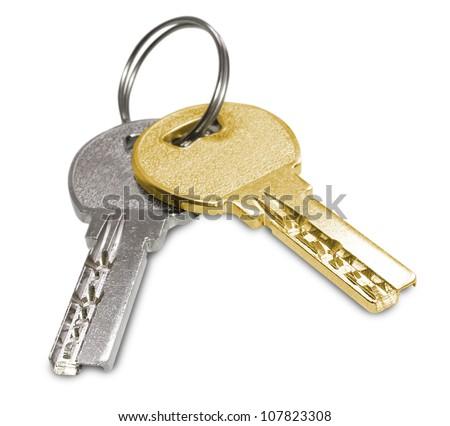 Keys isplated on white background - stock photo