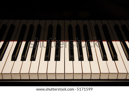 Keys of a black piano.