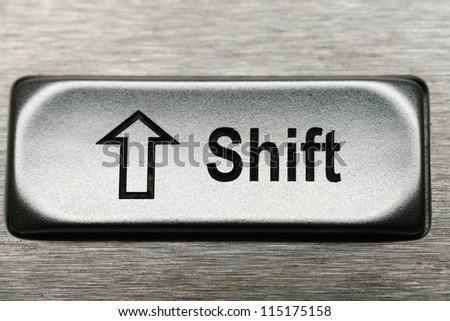 keys of a metal keyboard,.shallow depth of field............ - stock photo