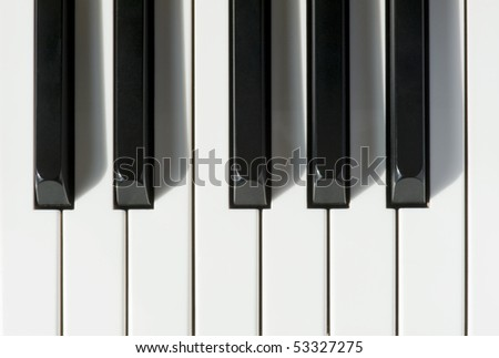 keys on a piano - stock photo