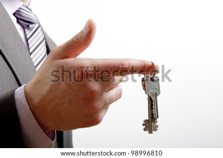 keys on finger - stock photo